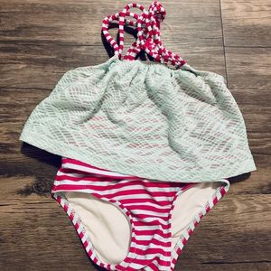 Baby girls two piece bathing suit